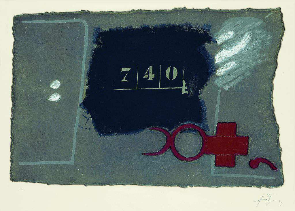 Antoni Tapies - 740 - Aquatinte