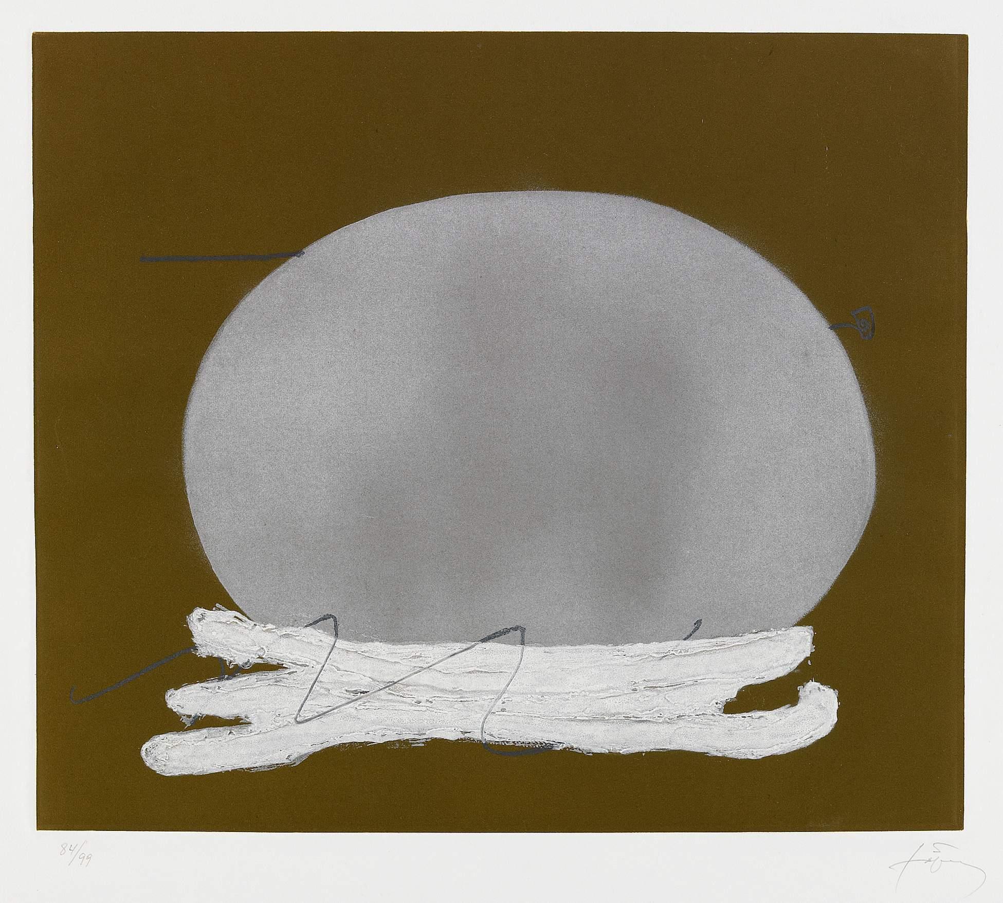 "Antoni Tàpies ""Oval i blanc"" (Ovale et blanc)"