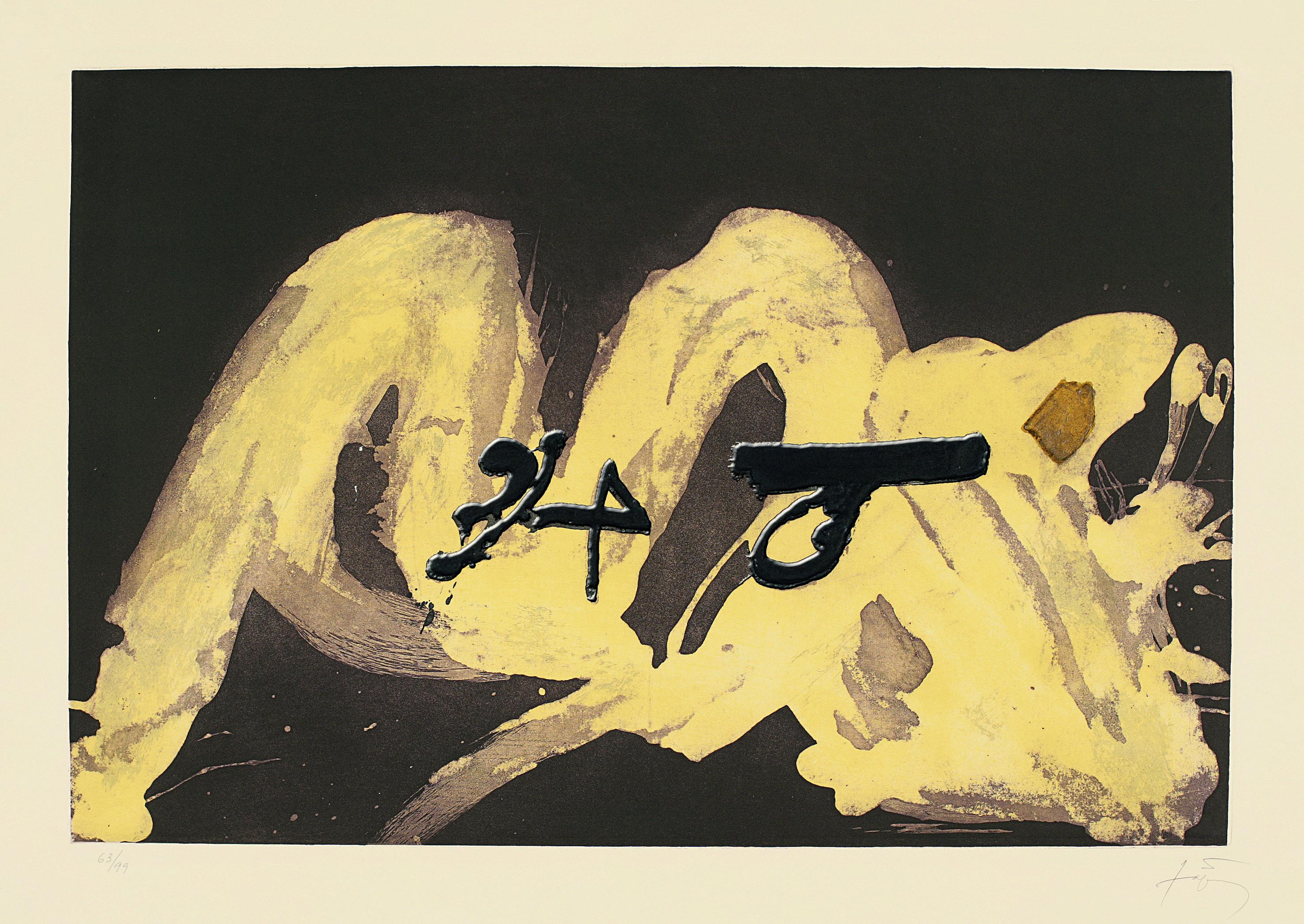 """Antoni Tàpies """"3 i 4"""" (3 et 4) Gravure"""