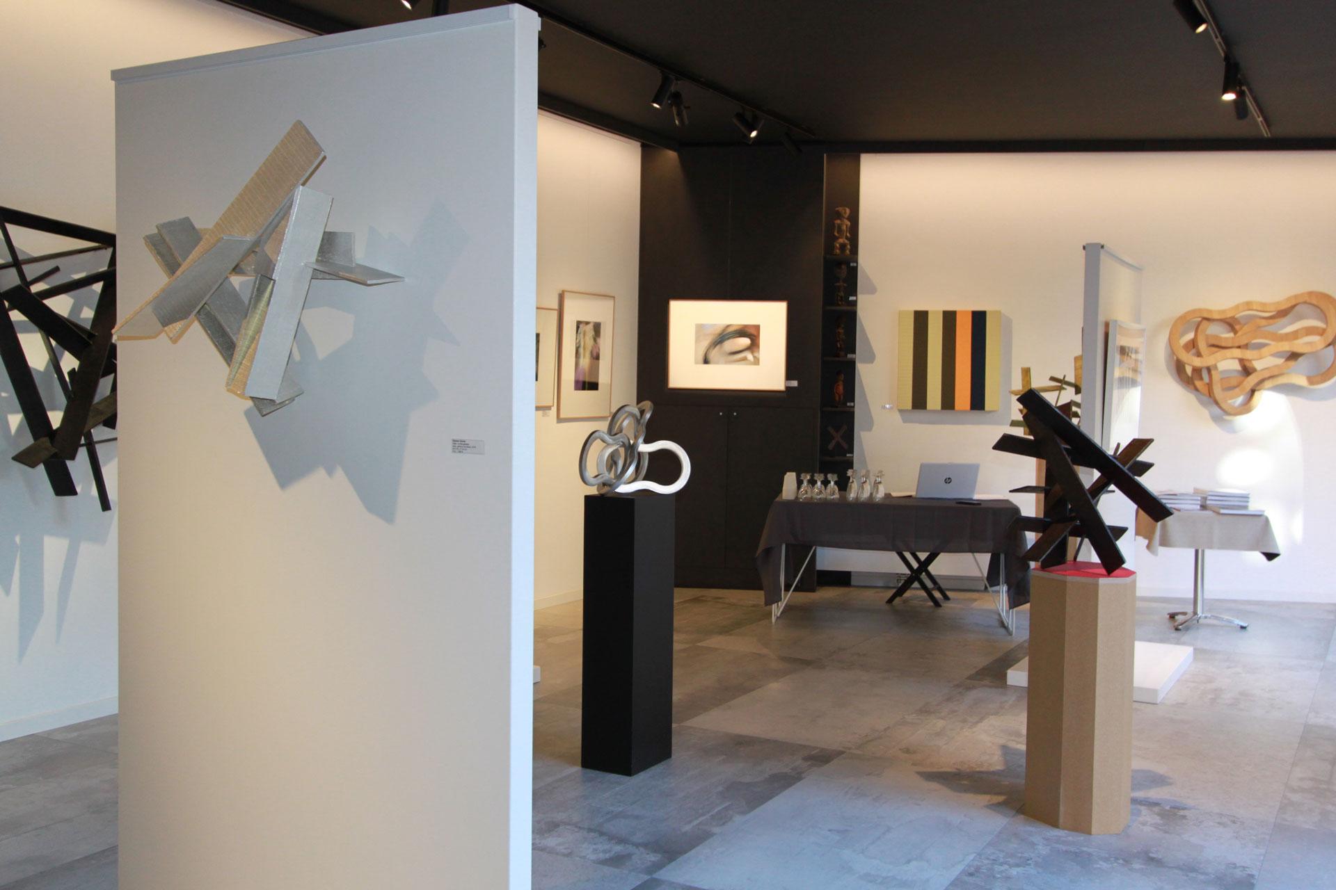 Exposition Droites et courbes - Galerie Murmure Colmar